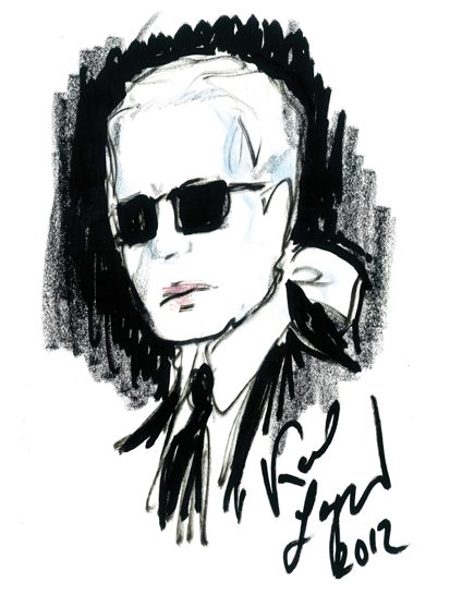 Karl Lagerfield  - Guest Editor