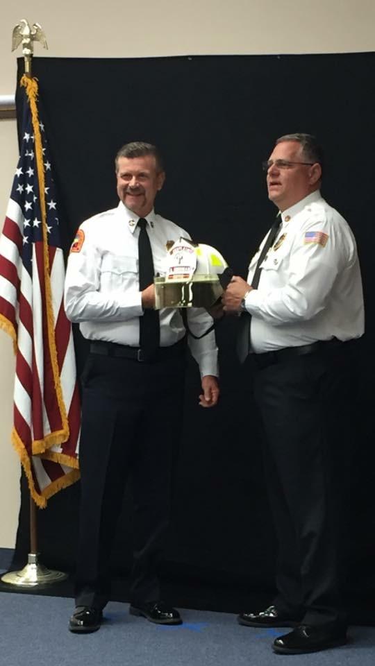 Mark Goodman & Fire Chief David Cambareri of San Carlos Park FD
