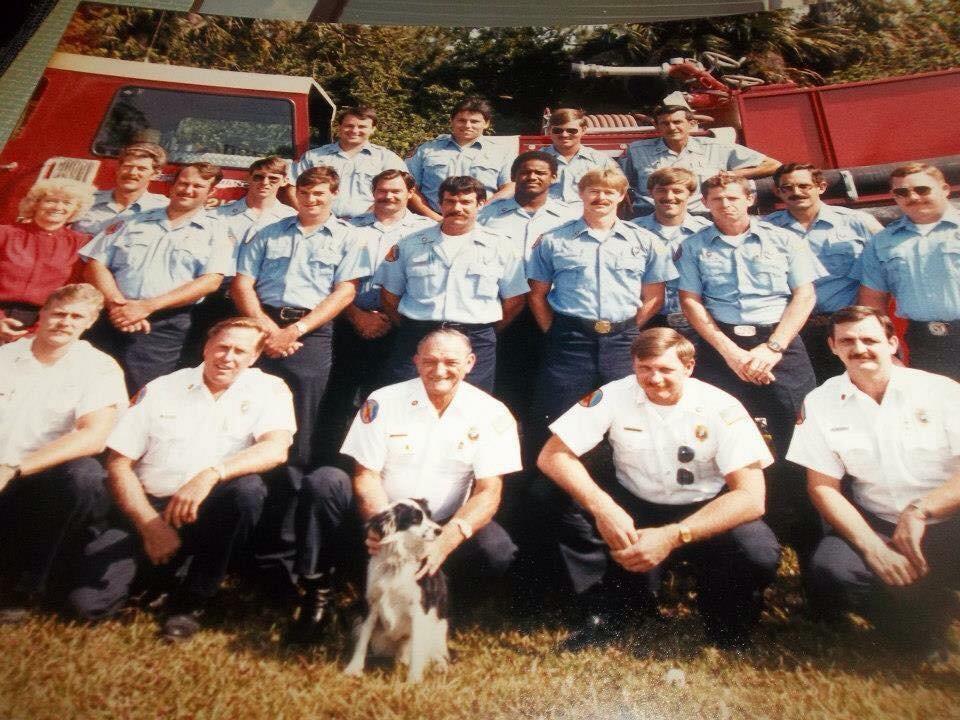 Lt. Mark Goodman- Tice Fire Department 1982 (Front Row Left Kneeling)