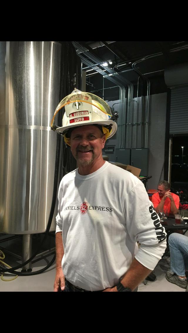 Chaplain Mark Goodman- Helmet Blessing for Brotherhood Ride Event- 2017