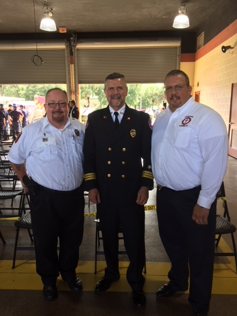 9/11 Memorial Service (2018) at Tice FD with Chaplain Alan Crump (Tice FD) and Chaplain Paul Cords (Ft Myers Shores FD)