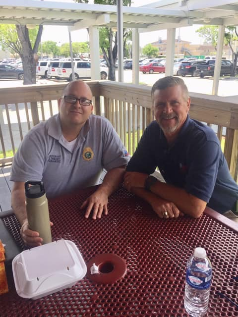Lunch with Lieutenant-Chaplain Alex Trinchet at Miami-Dade Fire Rescue May 2019