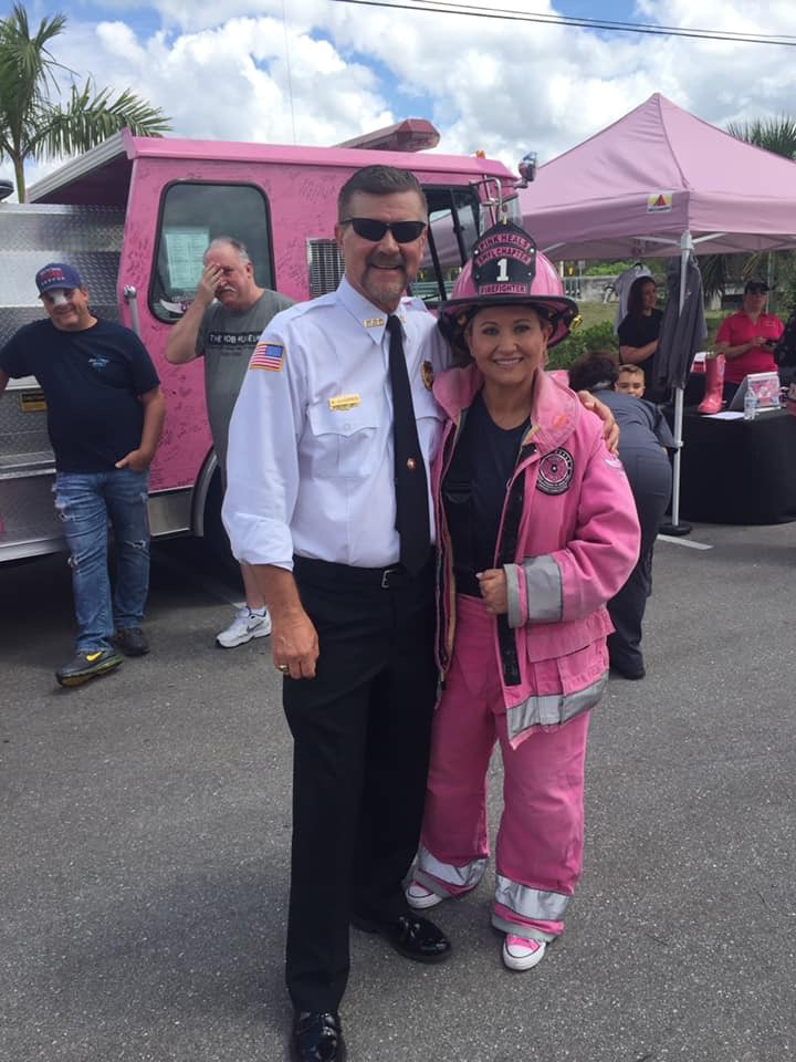 Pink Heals Event- Charlie Russo Fundraiser with Sarah Goldstein- Lehigh Acres FD