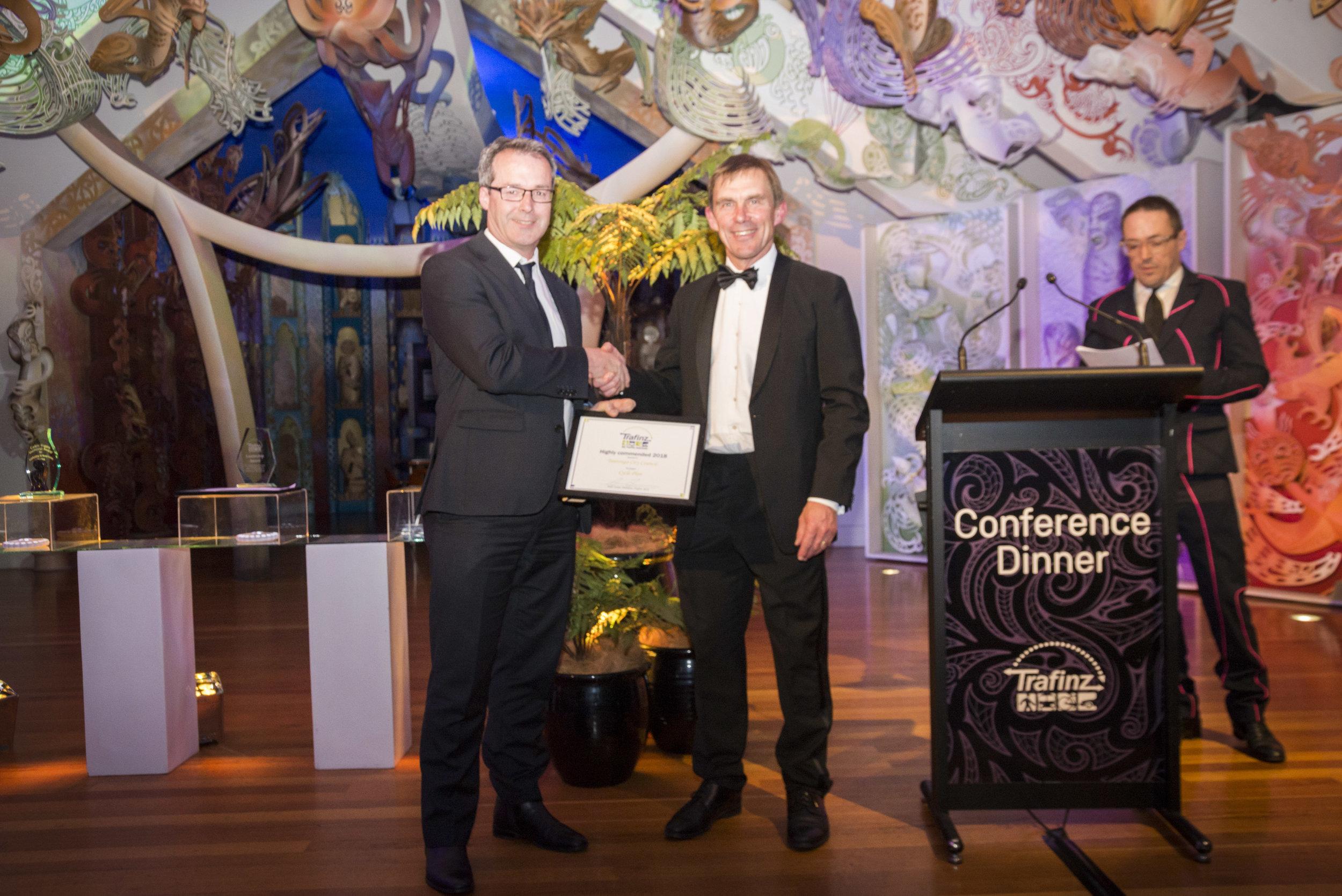 Tauranga City Council - Martin Parkes receives the award forCycle Plan