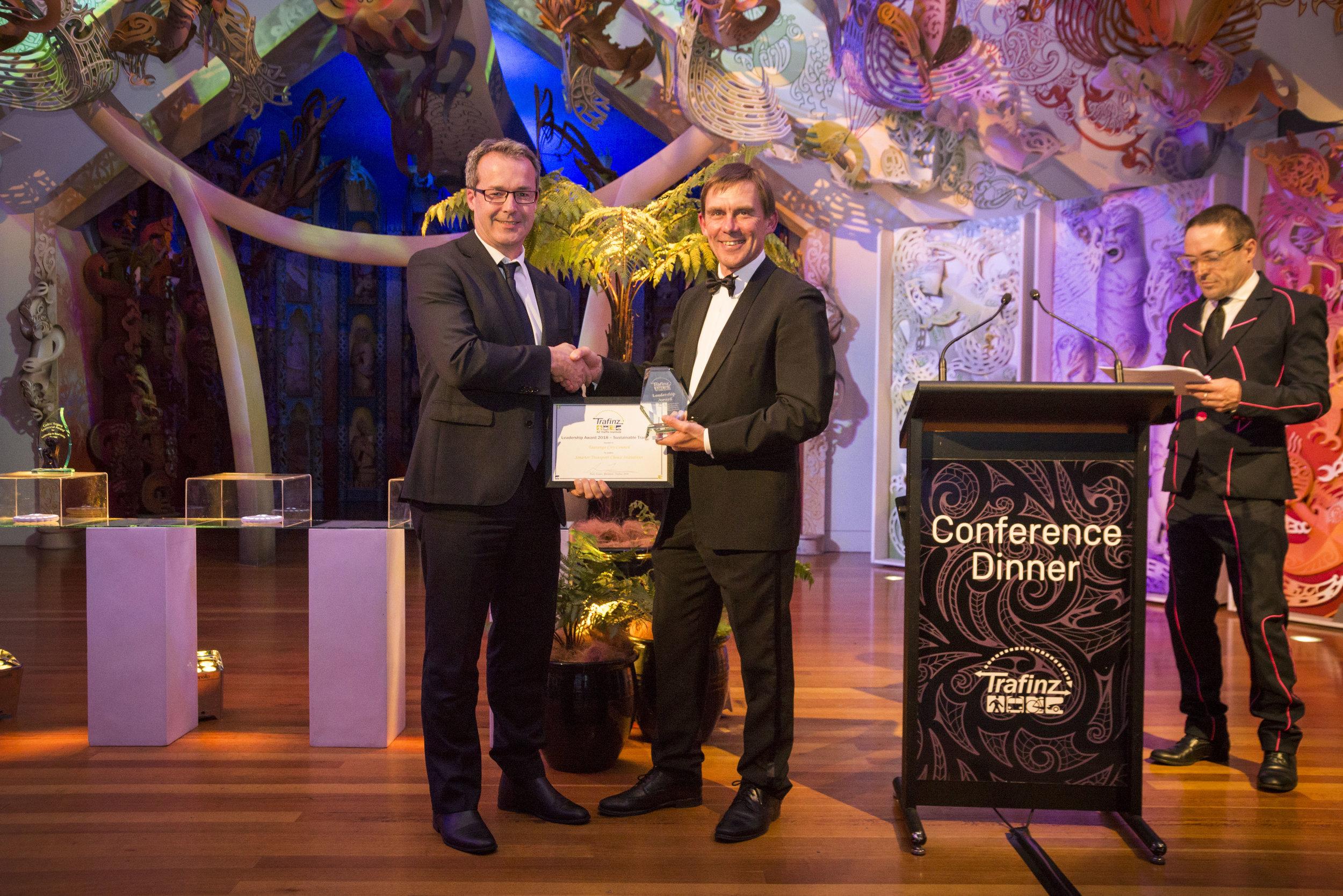 Tauranga City Council - Martin Parkes receives the award forSmarter Transport Choice Initiatives