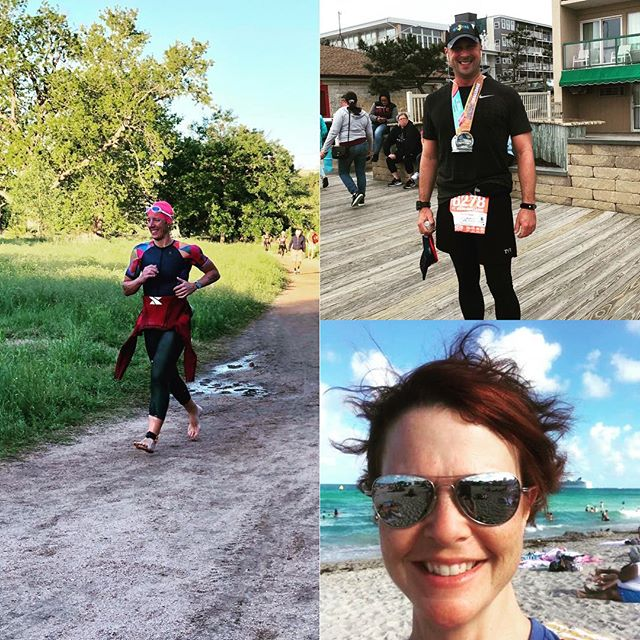 """Stellar performances from our #racerelentless athletes this weekend!! Annie for the AG win at Texas State Sprint. Julia for the """"get shit done"""" at her season opener. Rick for piecing together a 5k/13.1 back to back!  #thatwilldo #triathlontraining #ironmancoach #olympictriathlon #halfmarathon #sprinttriathlon  @ntrecovery @quintanarootri @btnutrition @rokatriathlon @zealiosskincare"""