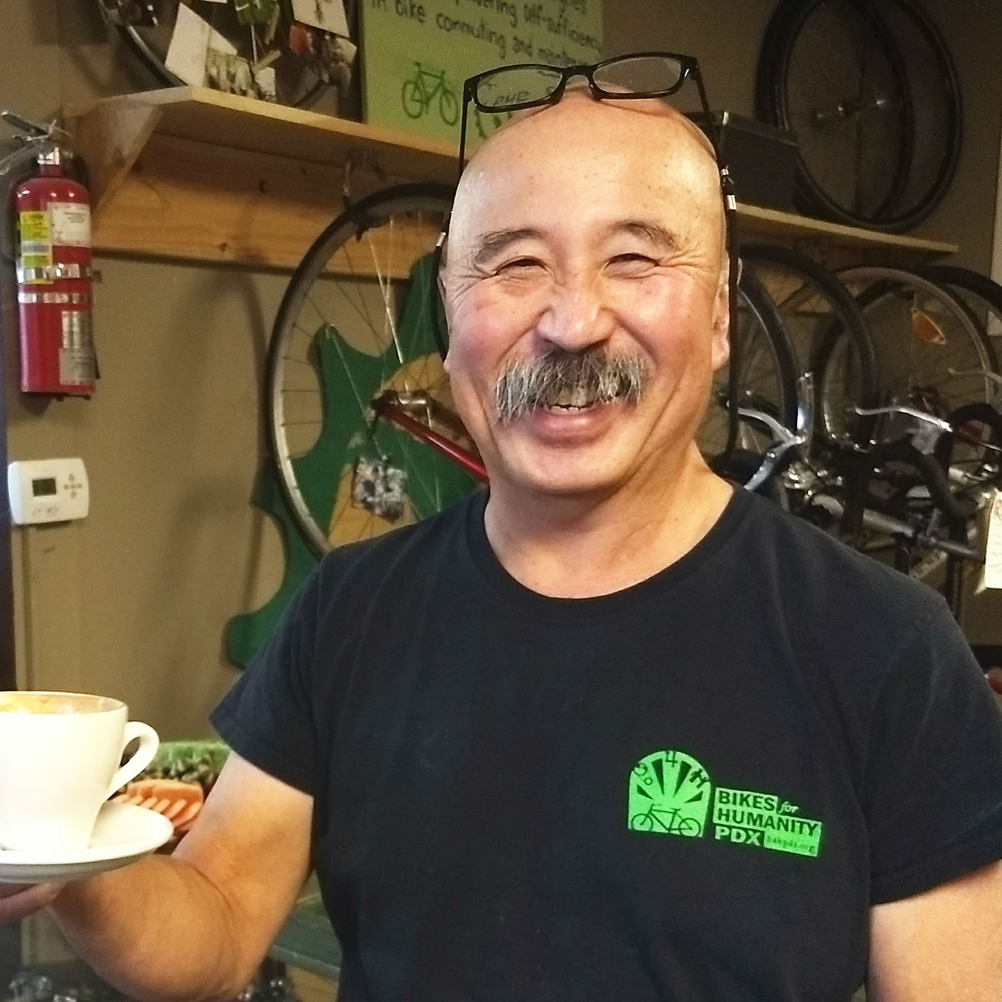 Norm - He's a lifelong bicycle advocate, and been serving on our board since 2015.