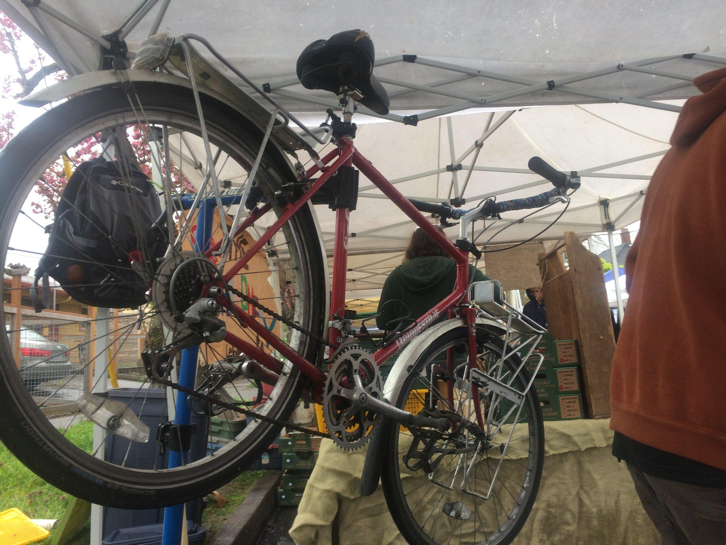 A free repair workshop at People's Co-op's farmer's market