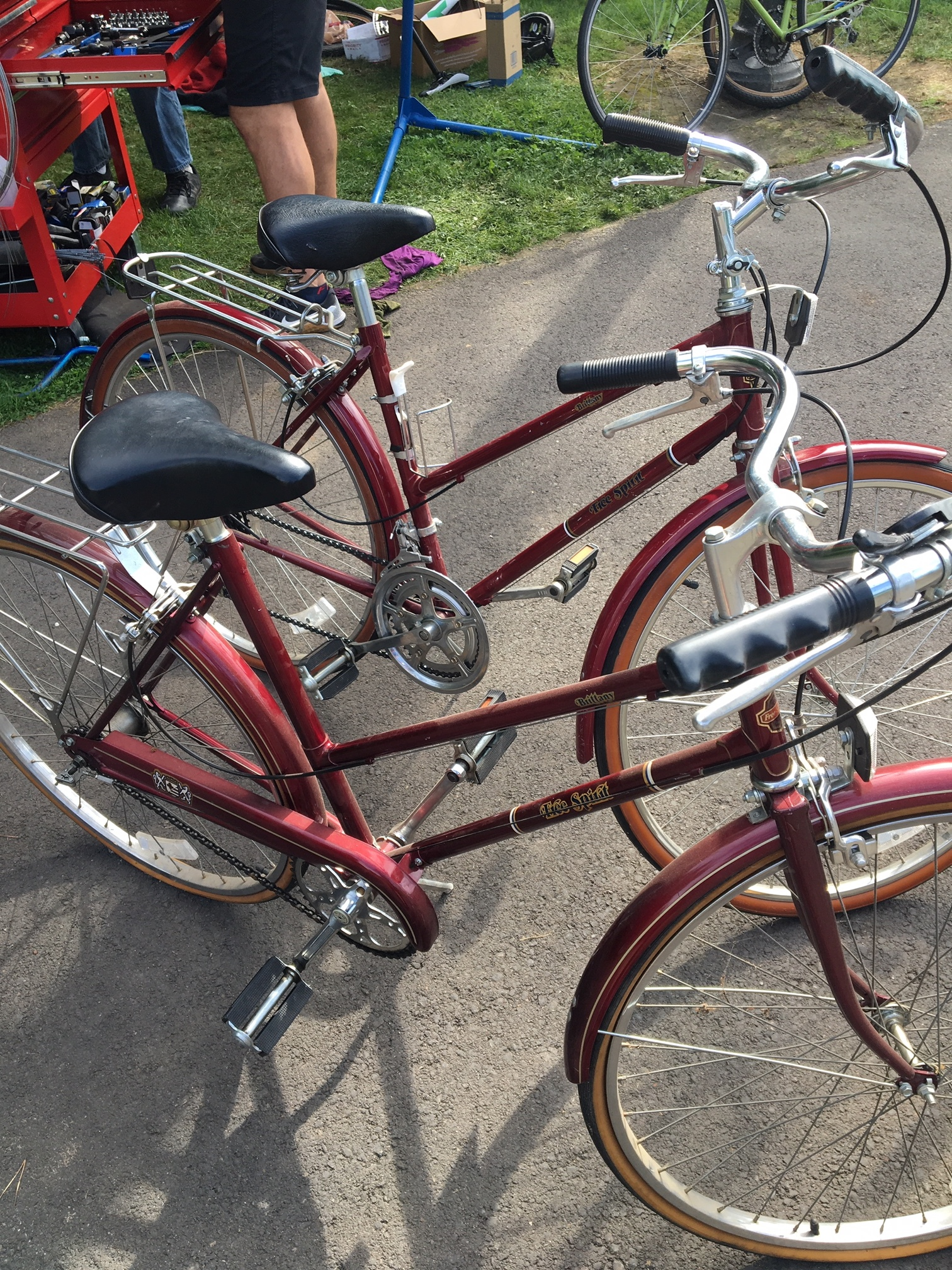 1 day, 1 make/model (Free Spirit Brittany), 2 different donors, 2 different bikes