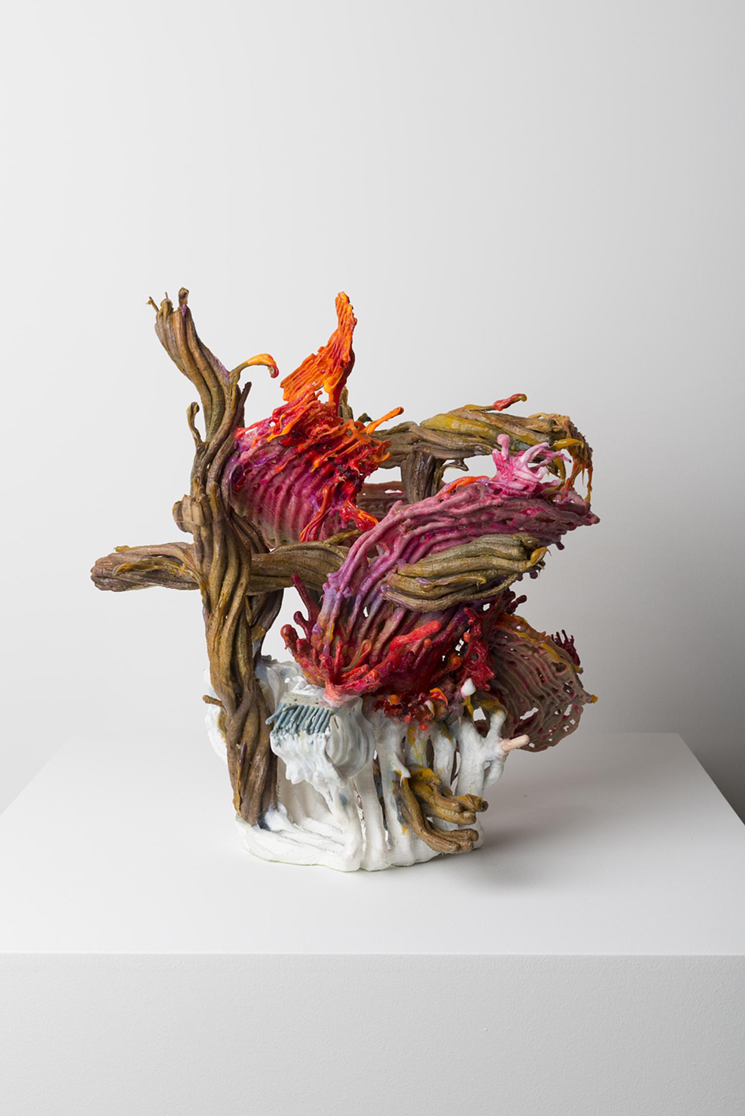 Loop Plastema, 2016, (detail)  40 x 30 x 30 cm | 15 3/4 x 11 3/4 x 11 3/4 in  3D printed plastic, alkyd paint, silicone