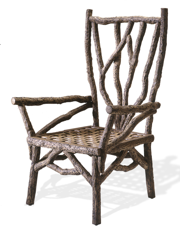 1Rustic oak Aluminum chair.jpg