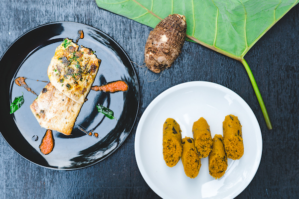 Kwacoco bible with fish steak - A Bakweri inspired meal with fresh fish fillet