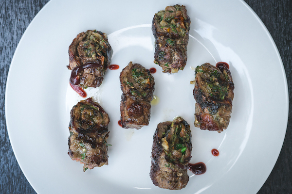Grilled beef tenderloin - Charcoal-grilled beef tenderloin marinated in Northern spices