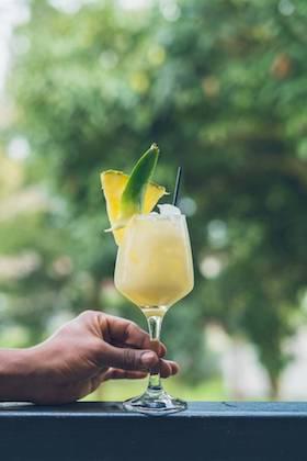 Pina colada - Coconut rum, pineapple juice, coconut cream