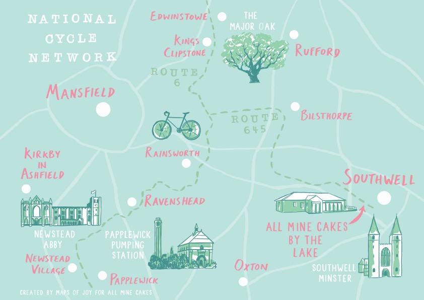 Southwell cycling map