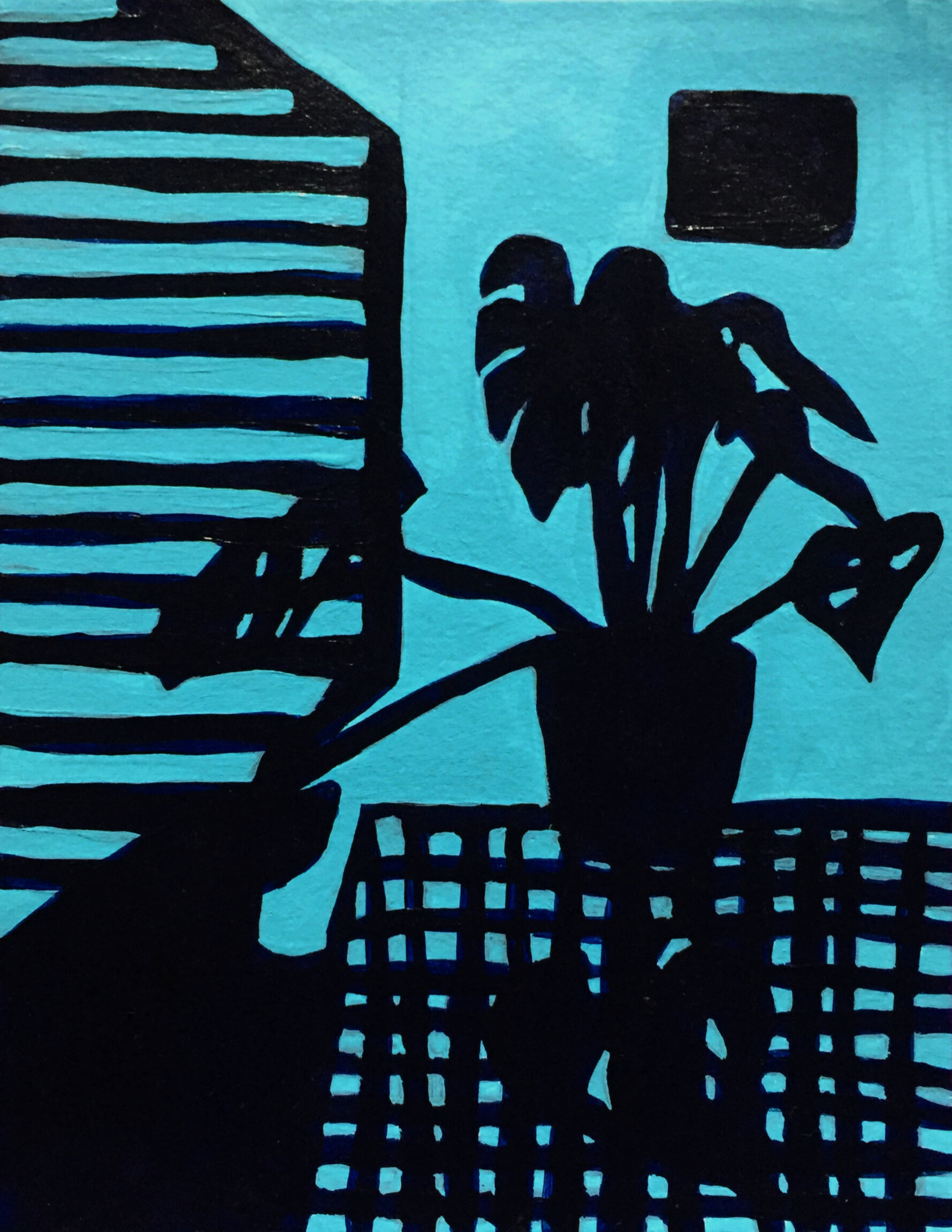 Cheese Plant in Blue (1)