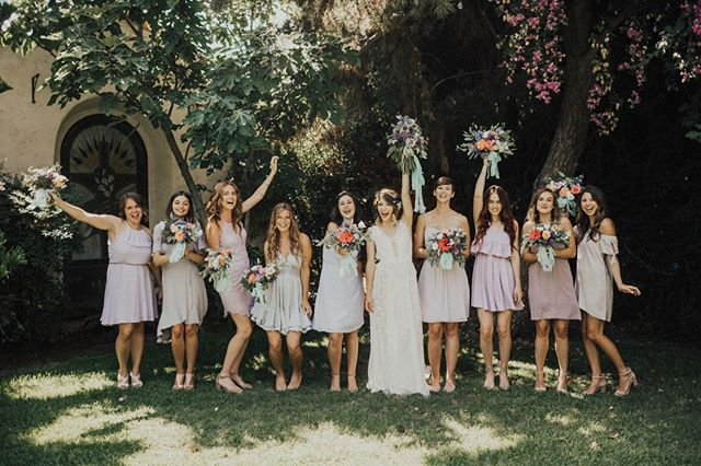 Ok, #bridalpartygoals, ammi right?? Having a blast, loving their sisters and holding pretty blooms.⠀⠀⠀⠀⠀⠀⠀⠀⠀ ⠀⠀⠀⠀⠀⠀⠀⠀⠀ Ok, this is what I ask myself, what do I need to do to be present and loving for the people in my life? How can I get out of my head so that I can really show up for the people I care about? Anyone else have these questions?⠀⠀⠀⠀⠀⠀⠀⠀⠀ ⠀⠀⠀⠀⠀⠀⠀⠀⠀ I've recently been delving into the world of silence and solitude in order to quiet all the madness in my head. I've been learning the practice of leaning into God, letting go, being thoughtful with words and actions and fully showing up. All this to say, I've discovered the centering prayer. Although I am terrible at it, I've already begun to see the fruit of joy and love in my life. Anyway, I recommend checking it out if you are interested in learning more about meditation. I've learned a lot from @gravitycenter. I highly recommend checking them out!⠀⠀⠀⠀⠀⠀⠀⠀⠀ ⠀⠀⠀⠀⠀⠀⠀⠀⠀ Florals: @with_flourish Hair: @mynameisdrenicole Photography: @jorgemaciasphoto and @saucysar ⠀⠀⠀⠀⠀⠀⠀⠀⠀ ⠀⠀⠀⠀⠀⠀⠀⠀⠀ #bepresent #bestfriend #weddingbouquet #weddinginspiration #weddingdetails #flowerlover #weddingplans #weddingplanningtime #bhldn #bridesmaidbouquet #martha_weddings #weddingchicks #greenweddingshoes #100layercake #oncewed #ruffledblog #flowerstyle #authentic wedding #graceloveslace #modernloveevent #intimateweddings #moodforfloral #underthefloralspell #weddingflowerinspiration #bhldnbride #ruedeseine #sandiegobride