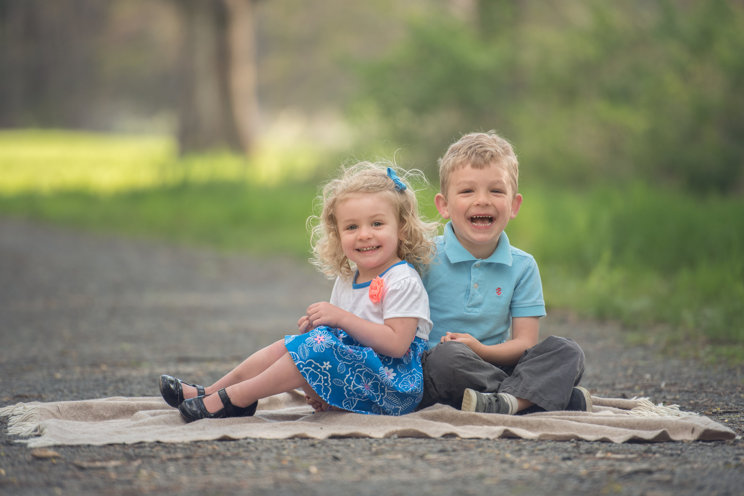 Young Brother and Sister at NRT Sheep Pasture