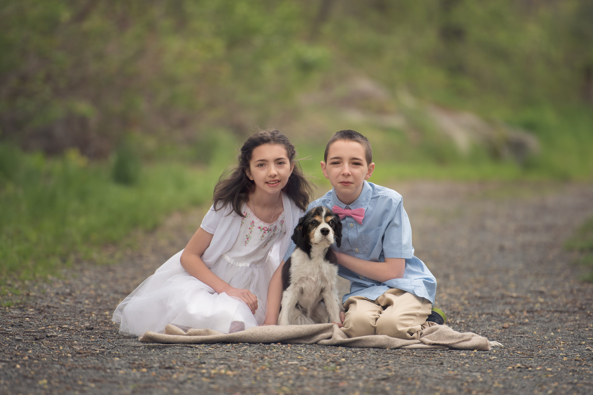Siblings with Dog Photo Session
