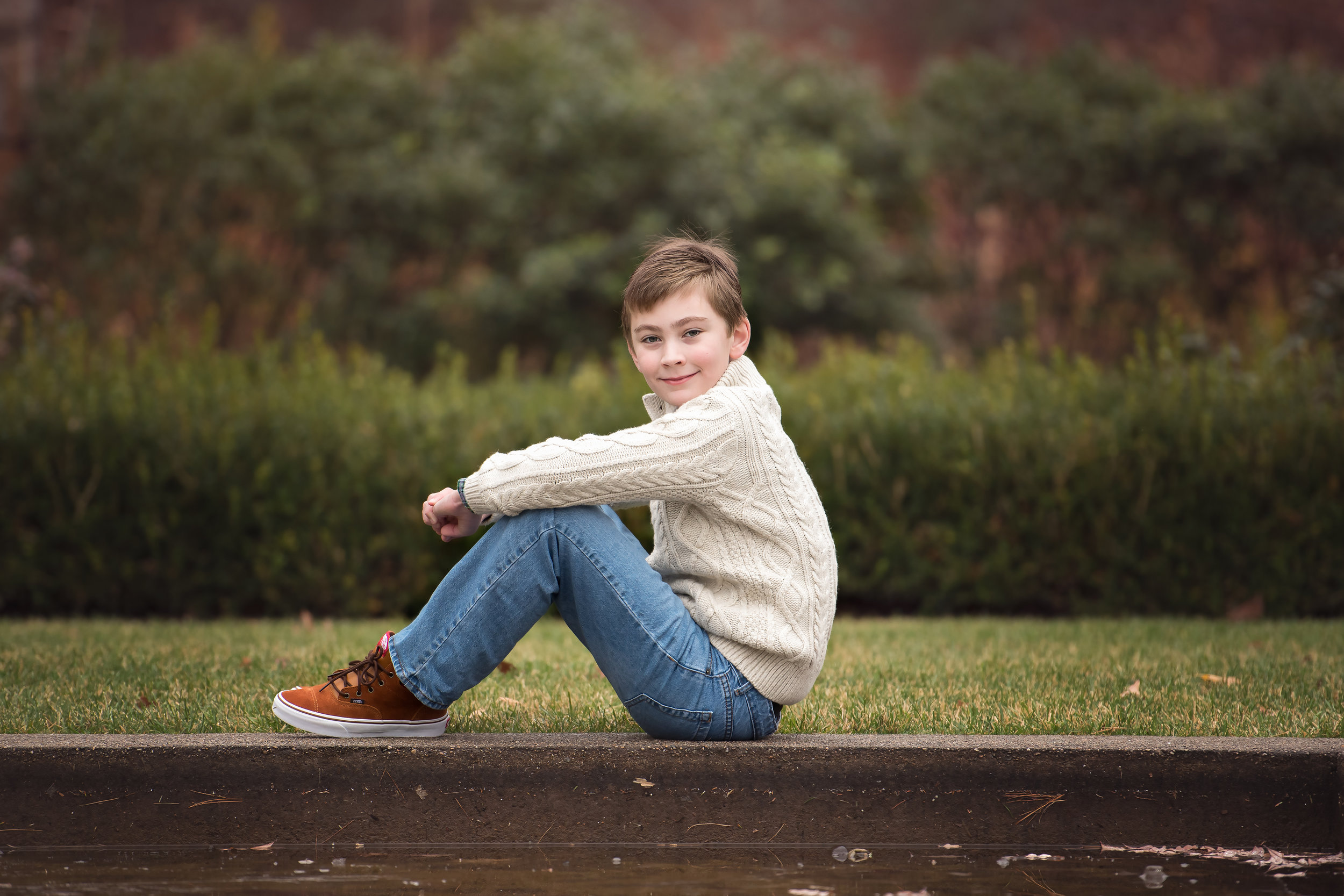 Boy in Sweater at Queset House Easton MA
