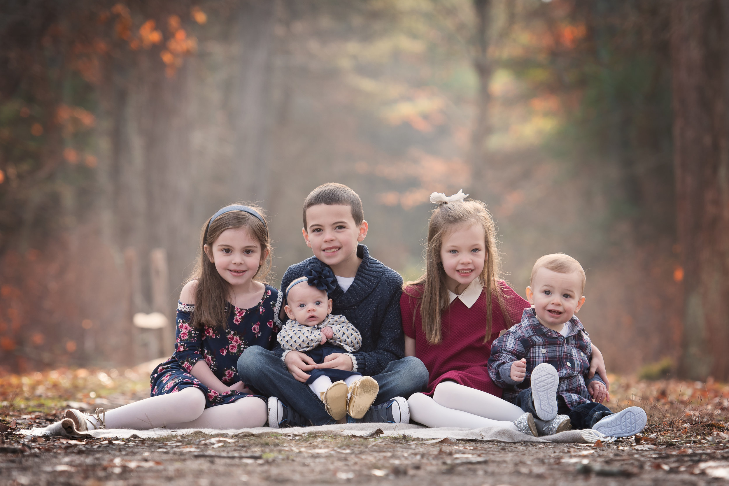 Group of Little Cousins Photo Session Easton MA