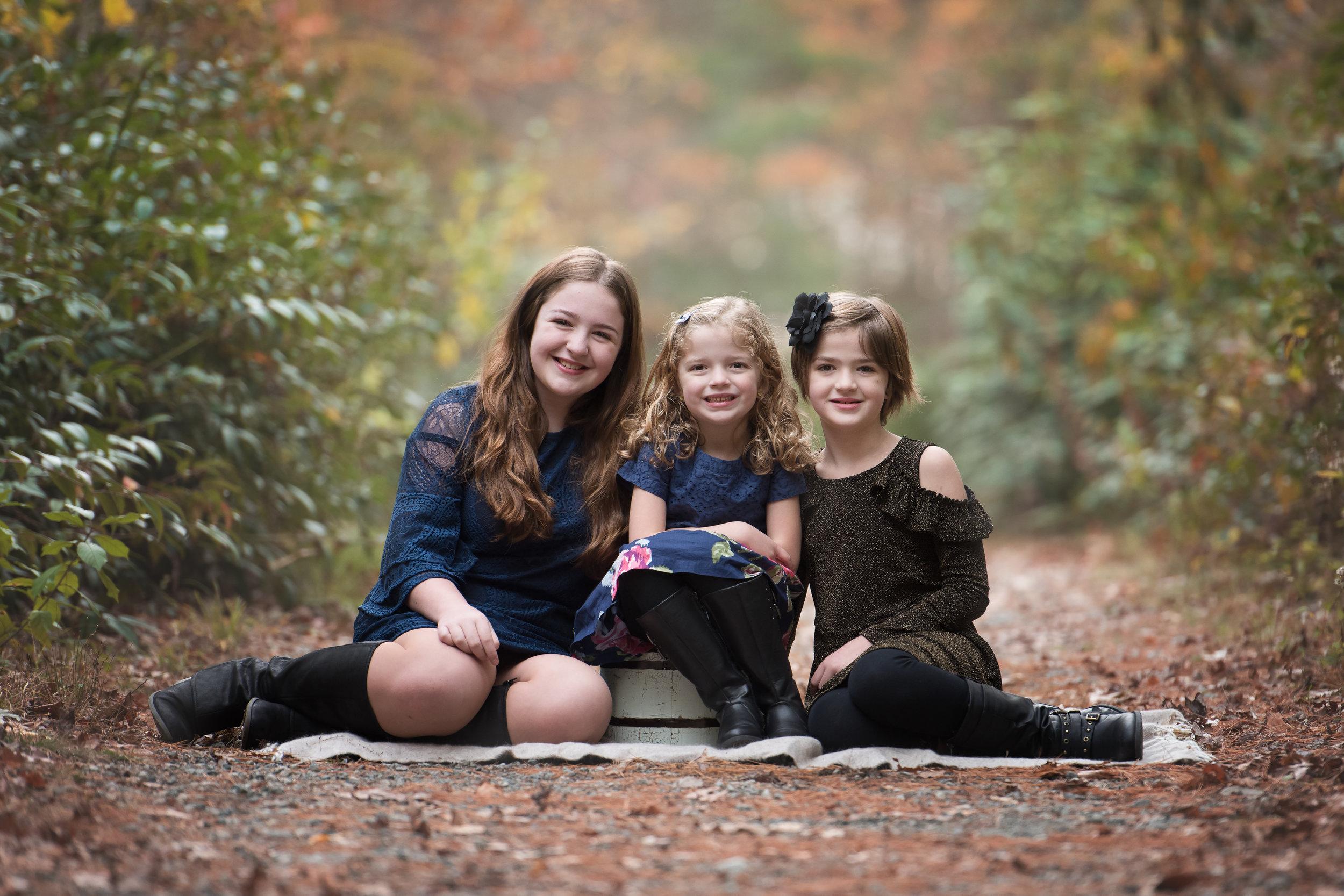 Three Sisters Fall Mini Session Easton MA