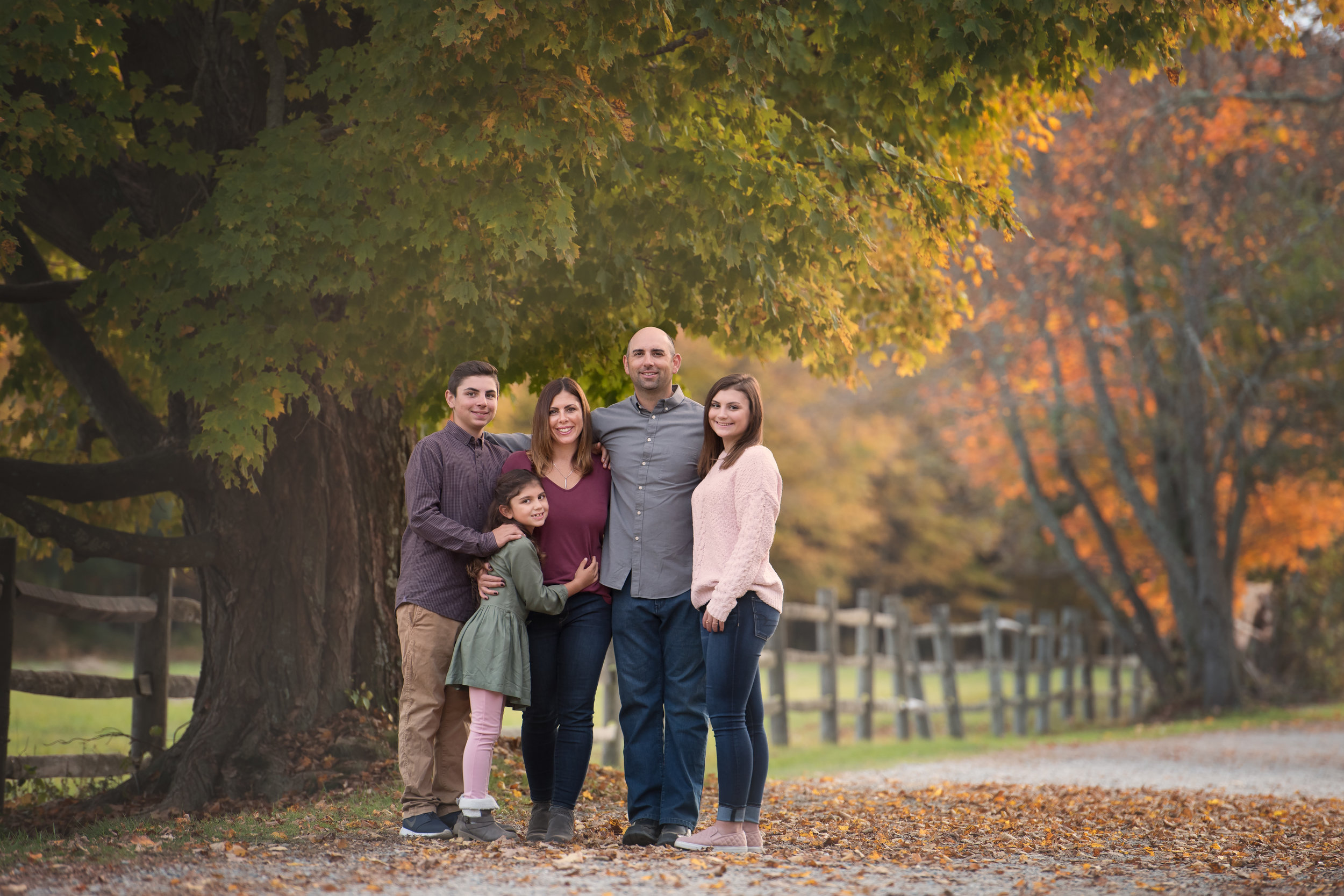 Family Photo with Fall Tree