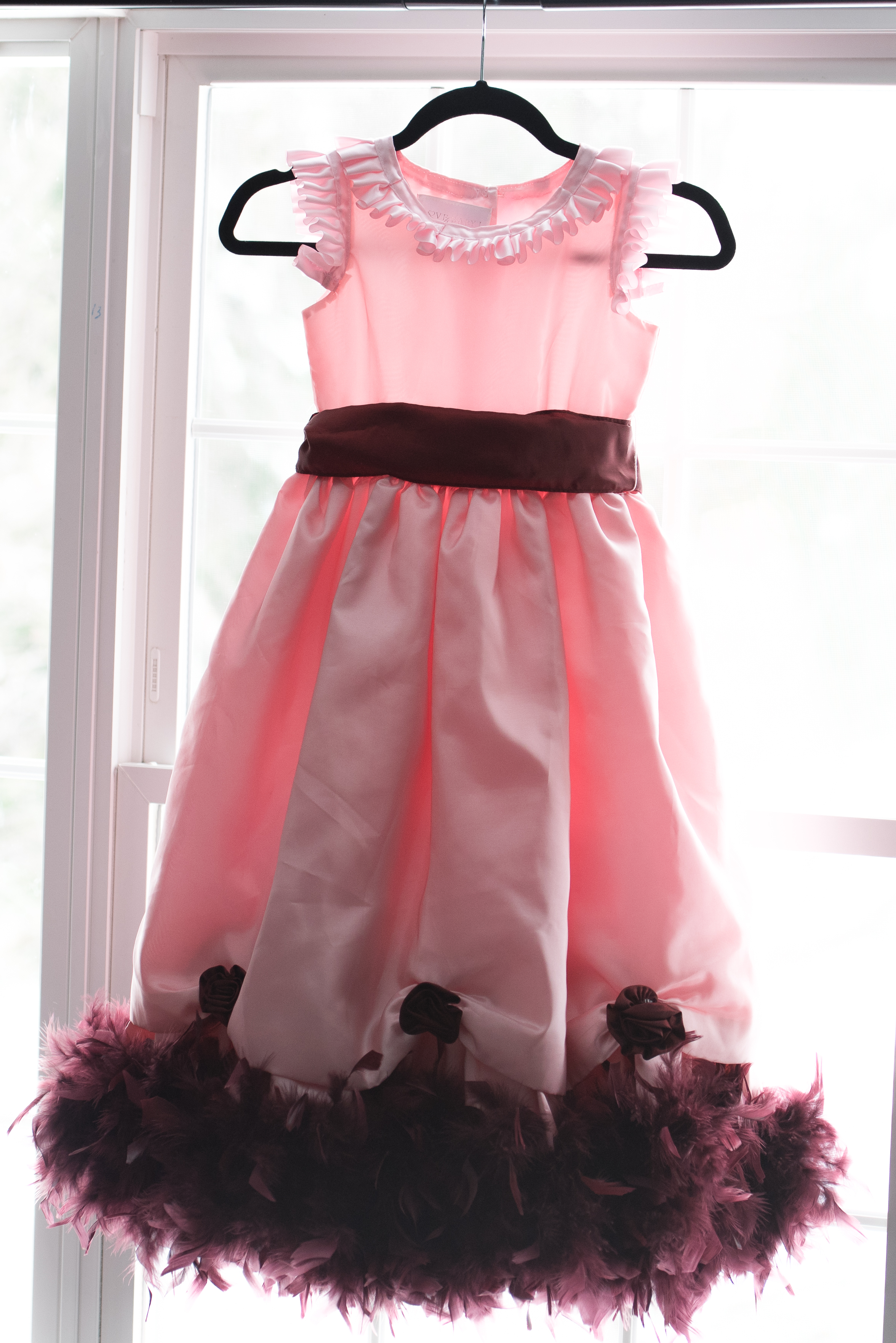 Love Baby J Pink Feather Dress