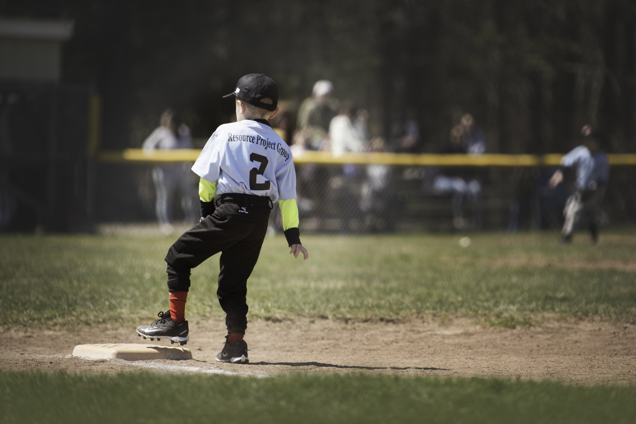 Easton Baseball Little League Running to Base