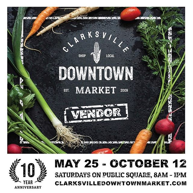 We will be at the Clarksville Downtown Market tomorrow.  Come early so our flowers are nice and fresh!  We've been missing our customers and can't wait to see you!  Booth 28 @clarksvilleparksrec And yes, we will have our signature jars of flowers 😉🙌🏻