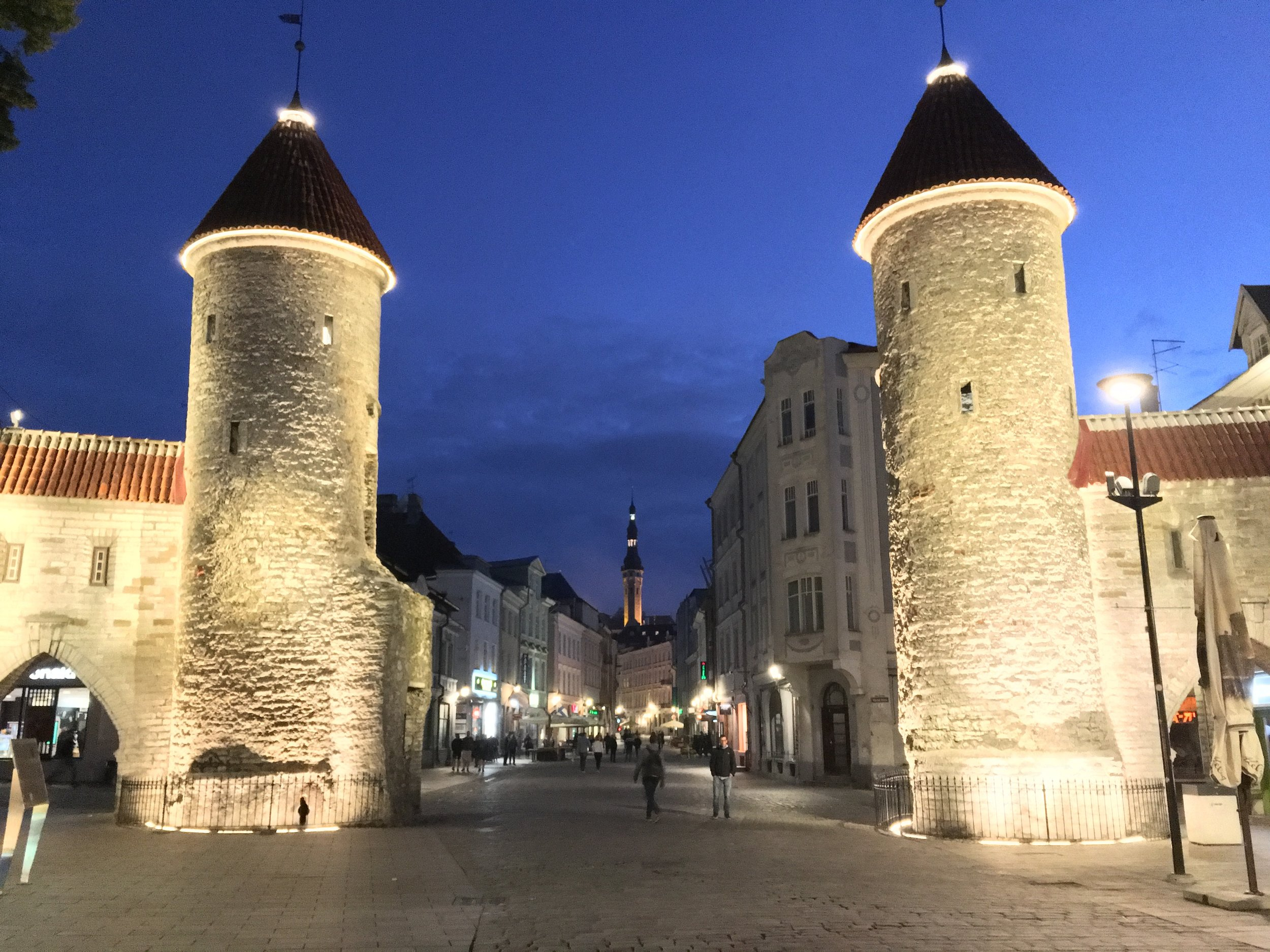 The entrance to Old Tallinn at 12:30AM