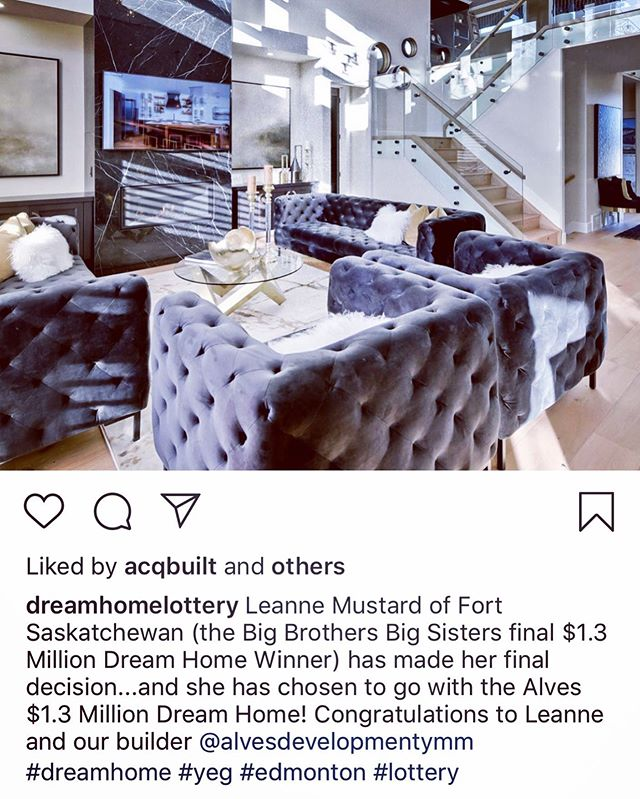 Congratulations to the winner of the @dreamhomelottery grand prize! This is always such a great opportunity to be a part of! And congratulations to @alvesdevelopmentymm on being the chosen home! #dreamhomelottery #bigbrothersbigsisters #grandprizewinner #homeautomation #homesecurity #hometheatre #winnerwinner