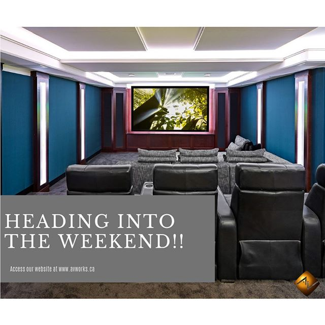 Happy Friday! #yegsmallbusiness #hometheatre #homeautomation #smarthome #weekend #friyay #avworksyeg