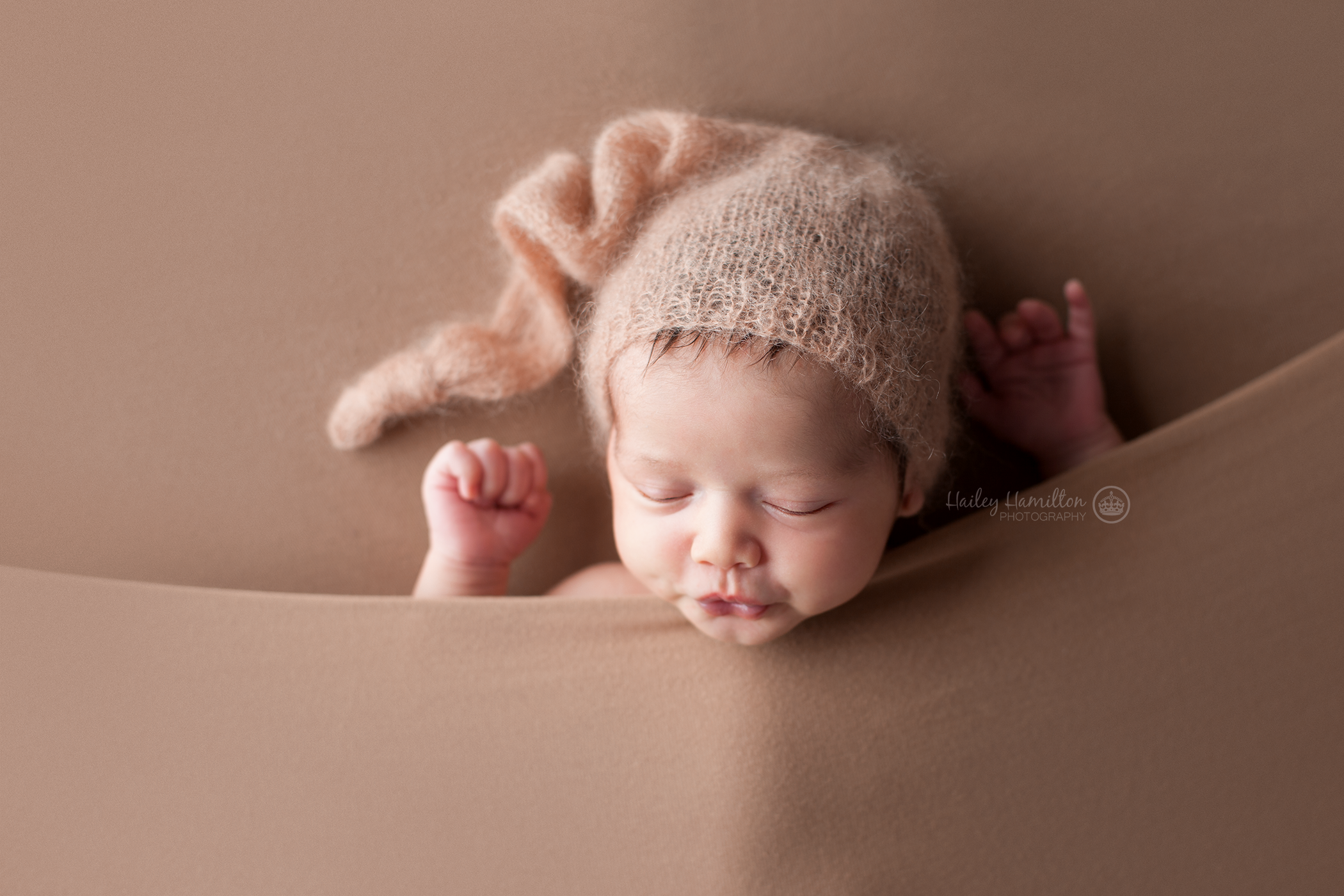 Neutral Posed Newborn Photography