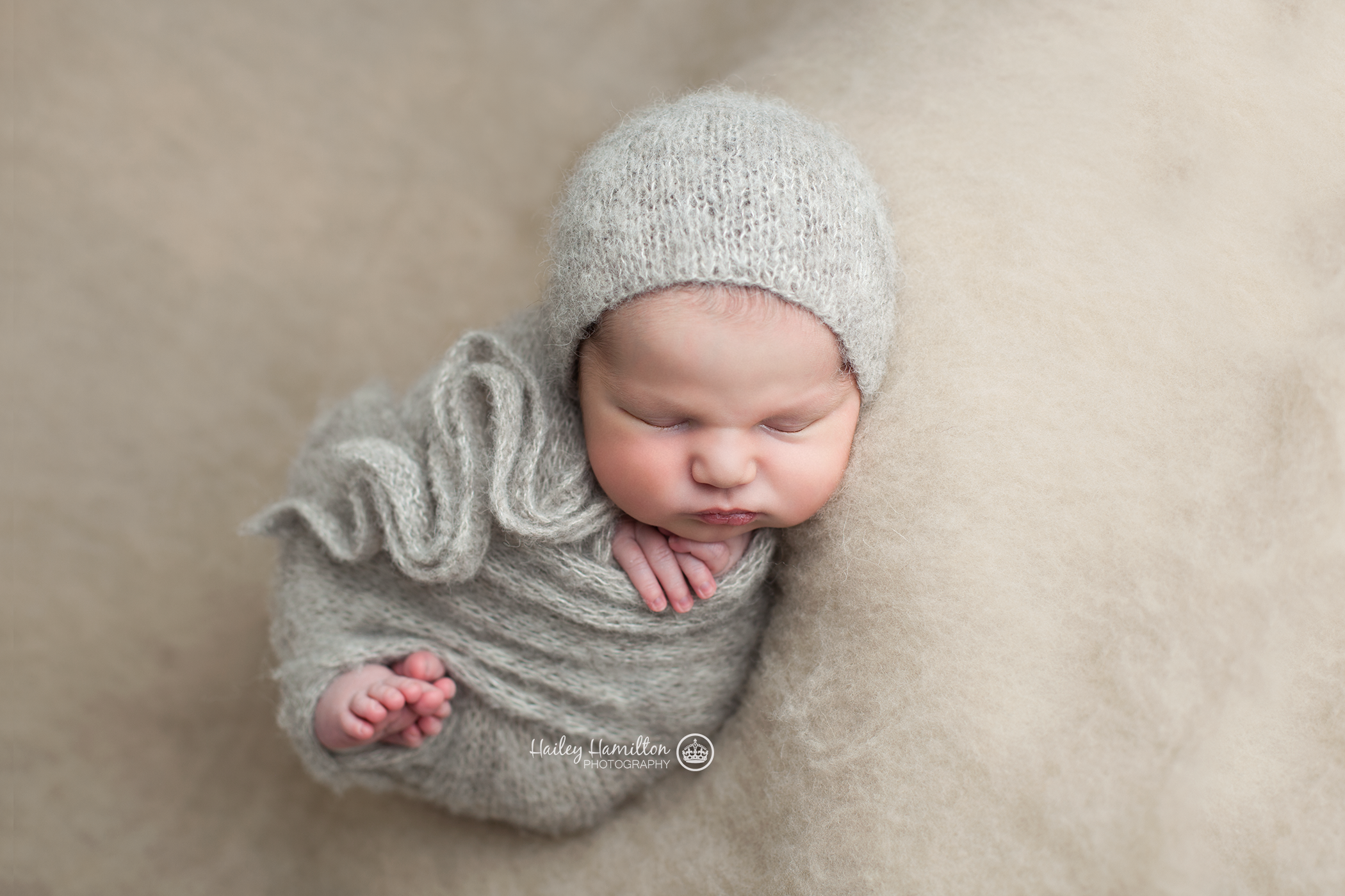Wrapped Newborn with toes showing
