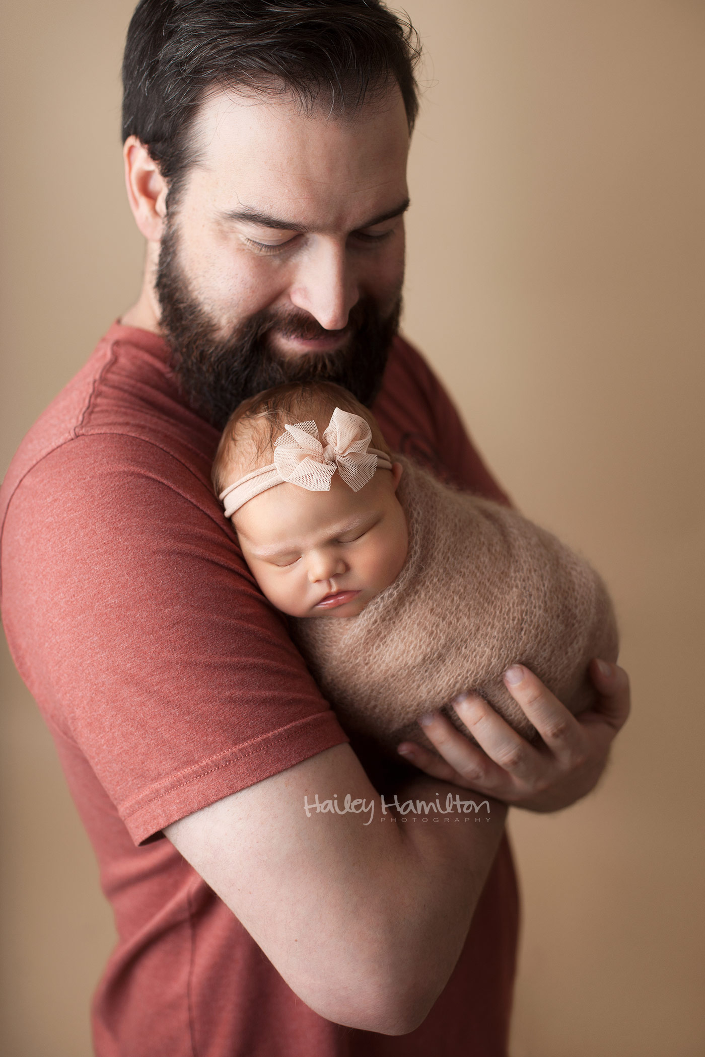 Dad Posed With New Born Baby
