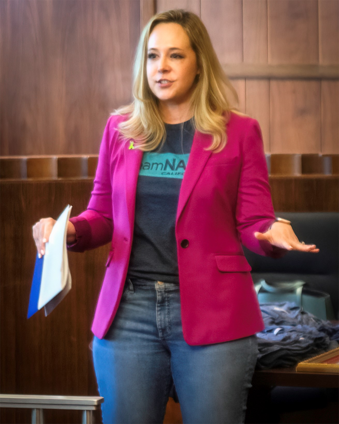 NAMI California CEO Jessica Cruz welcomes attendees during Wednesday's advocacy event