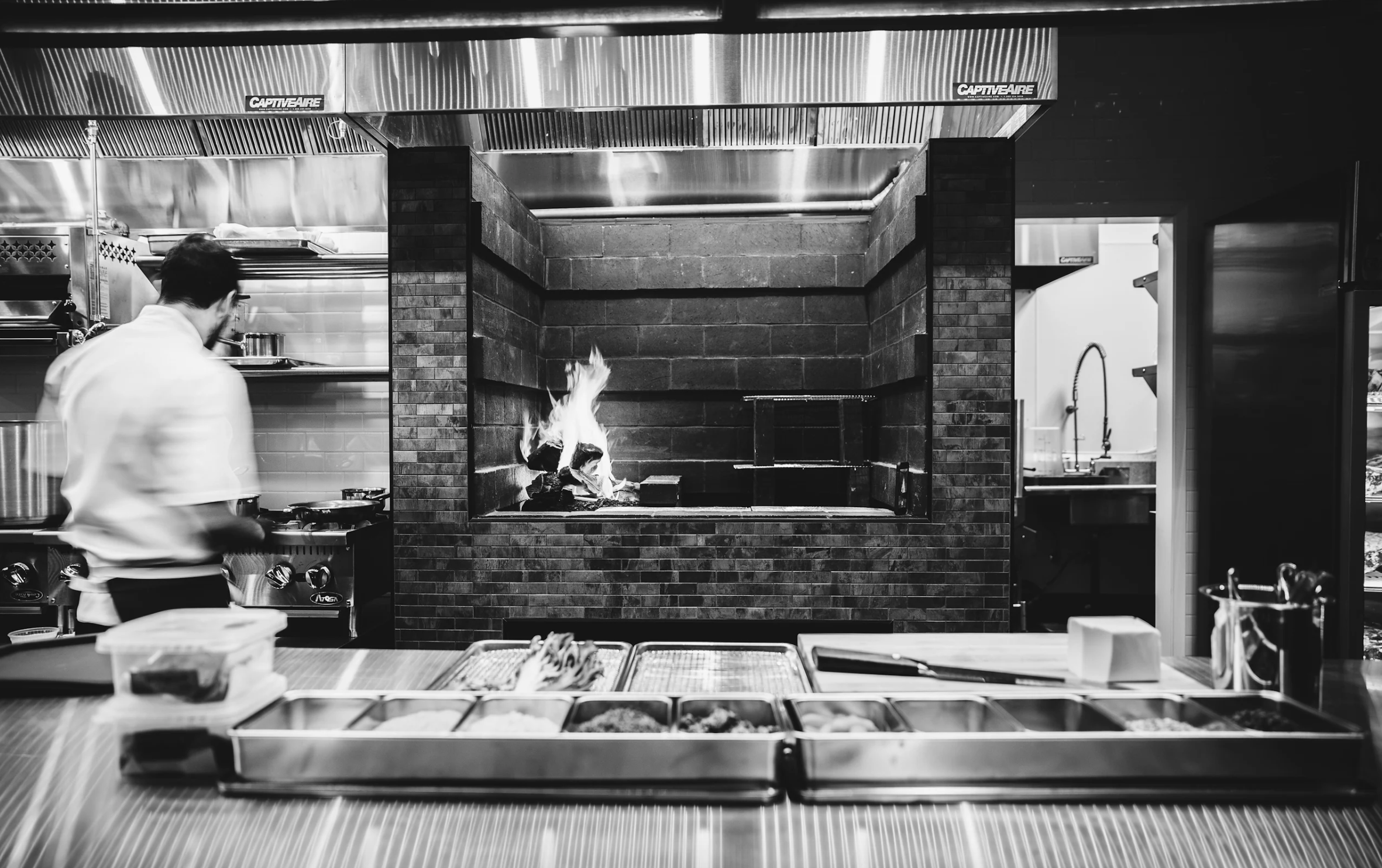 Photo by Liz Birnbaum of Executive Chef Jeffrey Wall at our Hearth