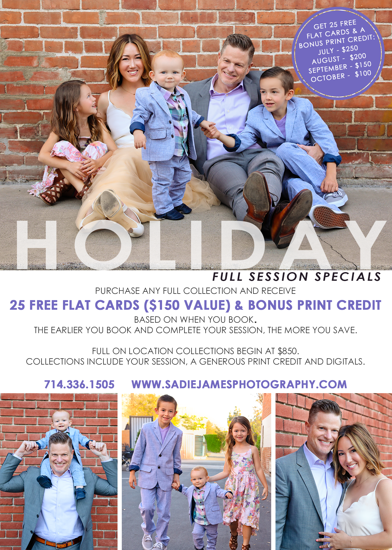 Holiday session sale with Sadie James Photography