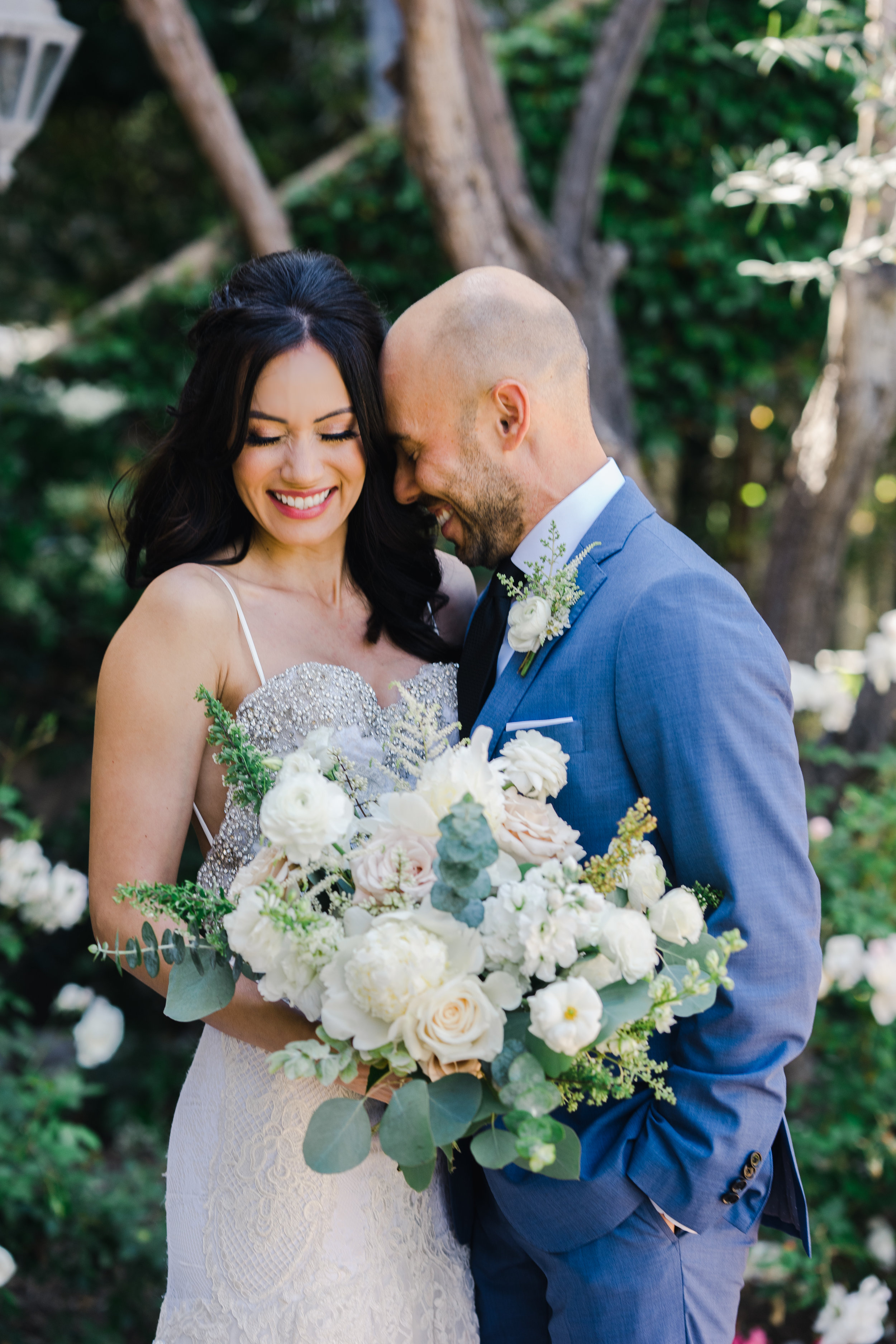 Blissfully Styled Events Orange County Wedding Planner First Look Couple Portraits