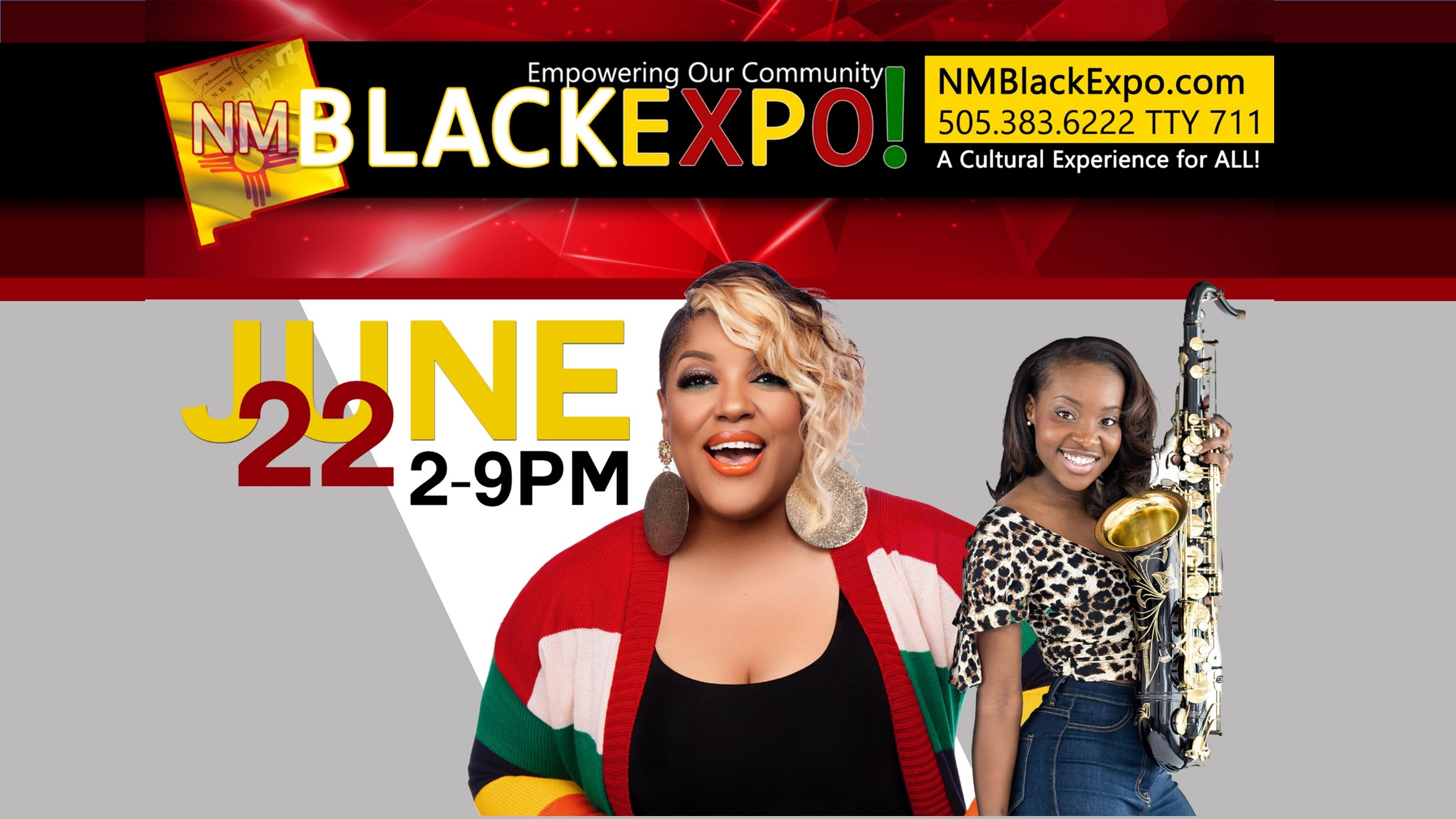New Mexico Black Expo  2:00pm – 9:00pm NM Expo Villa Hispana Pavilion 324-398 San Pedro Drive Northeast Albuquerque, NM 87108 United States  Yorkshire Wellness Group: The School Arts Bldg. - Booth #10  CULTURAL EXTRAVAGANZA BLACK BUSINESS TRADE FAIR KIDS' CORNER CULTURAL FOODS NATIONAL/LOCAL ENTERTAINMENT GREEK STEP SHOW