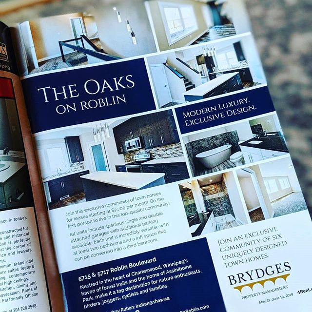 We are loving the print campaign supplements in @4rent.ca for our collboration with @oaksonroblin 👌