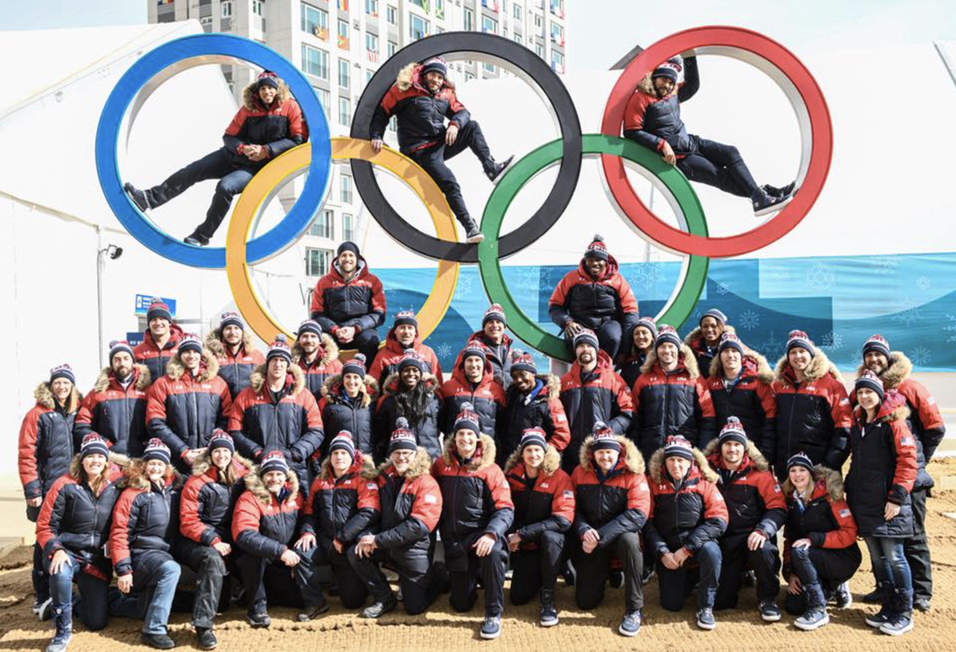 Team USA Bobsled/Skeleton at the 2018 Winter Olympics in PyeongChang, South Korea.