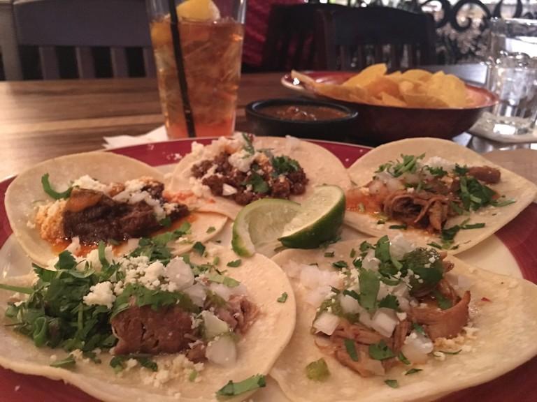Casa del Matador street taco plate. Photo by Rachael Worthington.