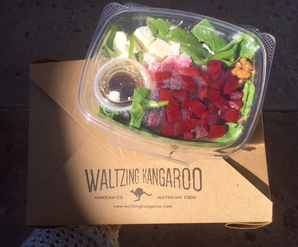 The tucker box with a side beet and feta salad. Photo by Rachael Worthington