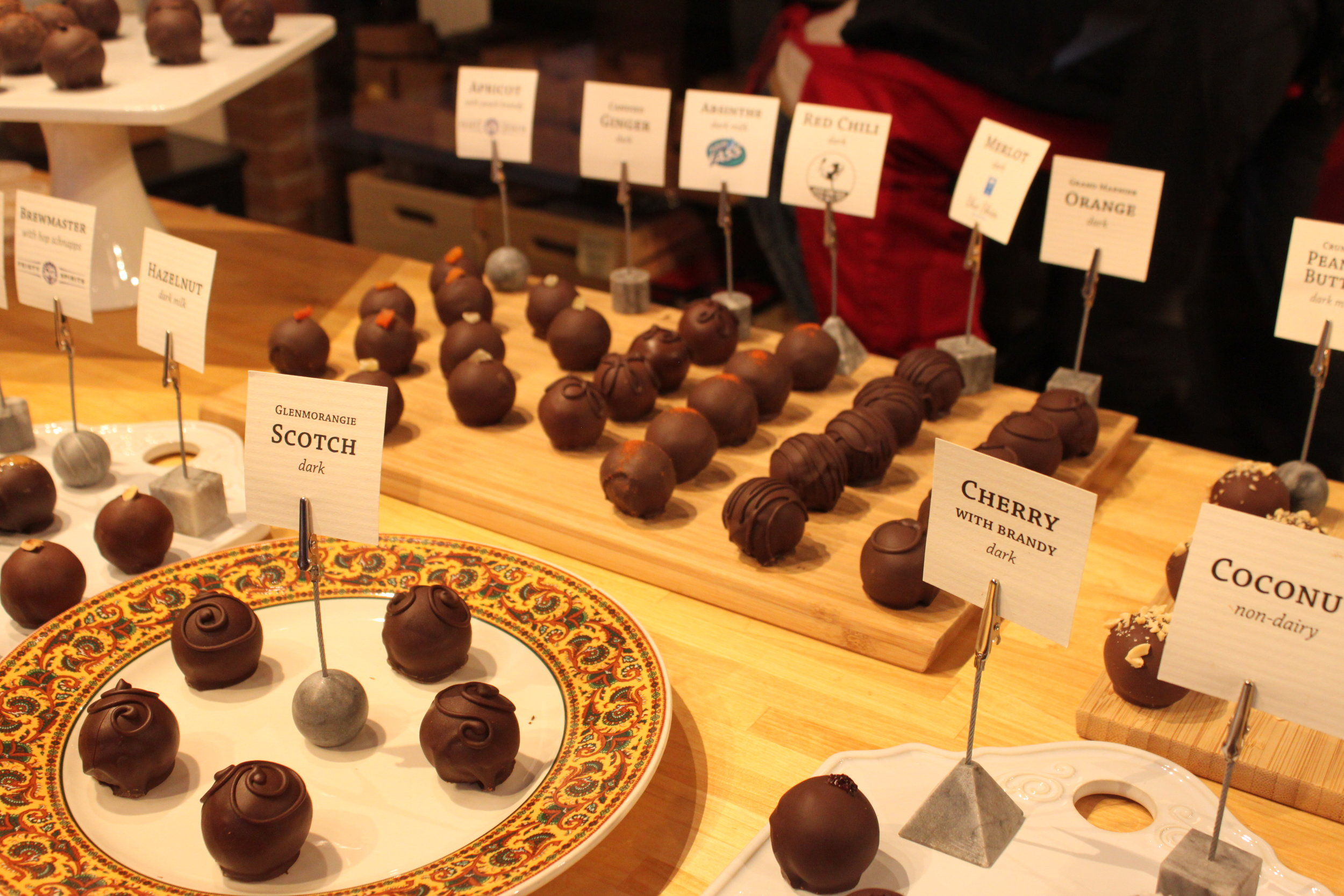 A selection of Nuance Chocolate's truffles. Photo by Rachael Worthington