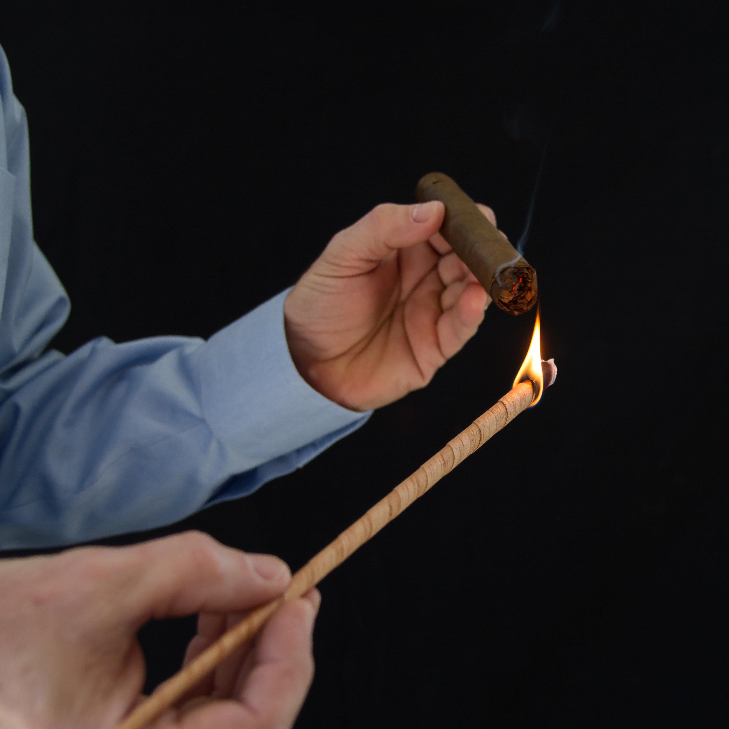 Lighting Darkfire Cigar Spills.jpg