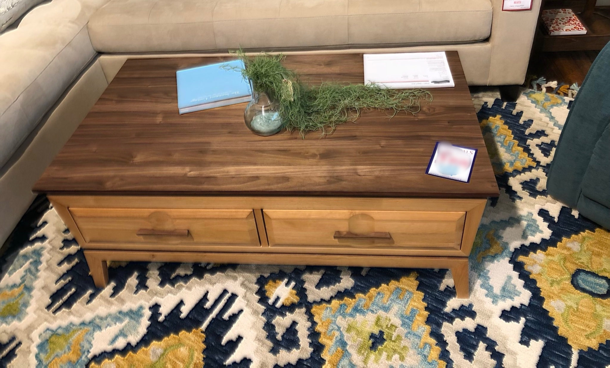 A coffee table with a lifting top!