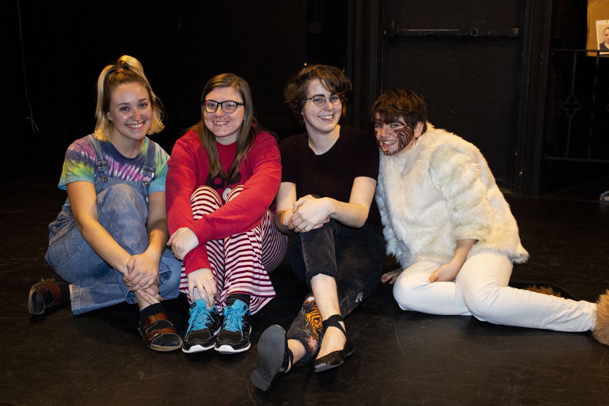 Photo by Jenny Reierson-Naumann   from left to right: Rachel Chevremont, Erin Cargill, Erika Bloomdahl, and Beth Ann Powers
