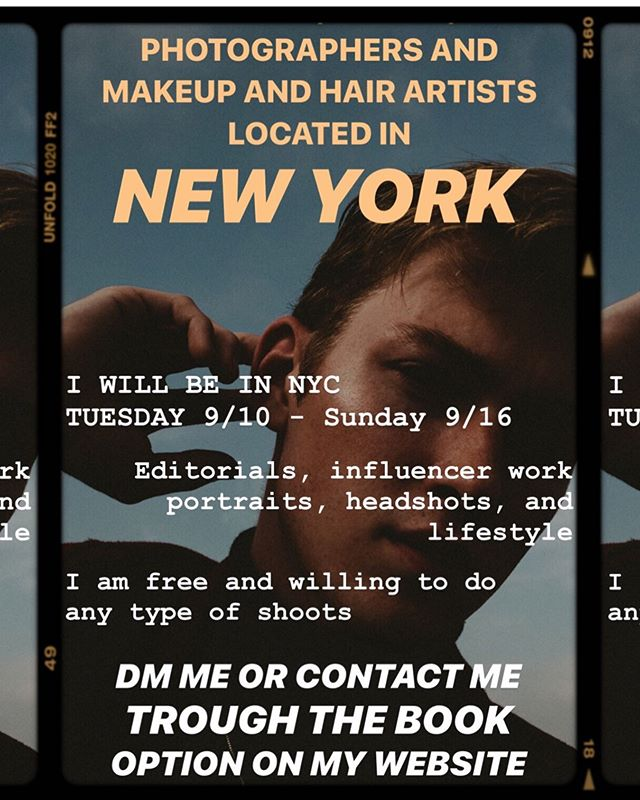LETS SHOOT! NYC 10-15 dates available! DM OR EMAIL ME